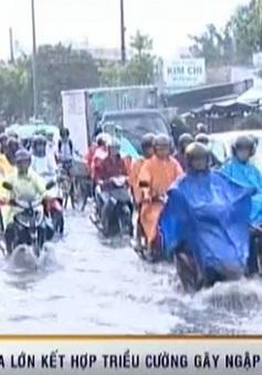 Cần Thơ ngập lụt sâu vì mưa lớn kết hợp với triều cường