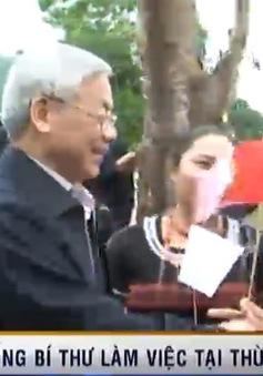 Tổng bí thư Nguyễn Phú Trọng làm việc tại TT-Huế