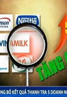 Công bố kết quả thanh tra 5 doanh nghiệp sữa lớn
