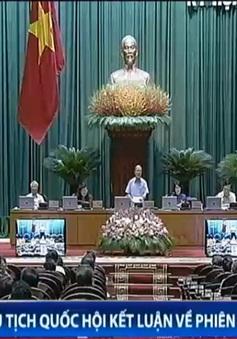 Chủ tịch Quốc hội Nguyễn Sinh Hùng kết luận hoạt động chất vấn
