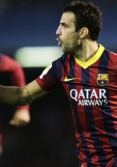 Fabregas thừa nhận có trận hay nhất từ khi tới Nou Camp