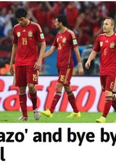 Báo chí Tây Ban Nha rung chuyển vì cú sốc World Cup 2014