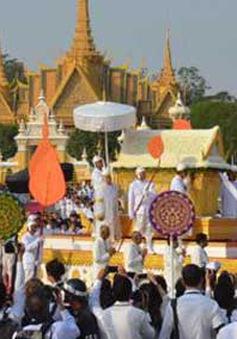 Chuẩn bị hỏa táng thi hài Cựu vương Sihanouk