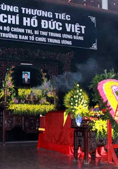 Tổ chức trọng thể Lễ tang đồng chí Hồ Đức Việt