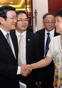 Chủ tịch nước gặp gỡ nhân sĩ, trí thức Trung Quốc