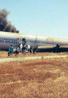 Cổ phiếu Asiana Airlines giảm mạnh sau tai nạn