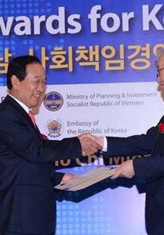 Trao giải thưởng trách nhiệm xã hội cho các DN Hàn Quốc