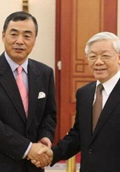 Tổng Bí thư Nguyễn Phú Trọng tiếp Đại sứ Trung Quốc