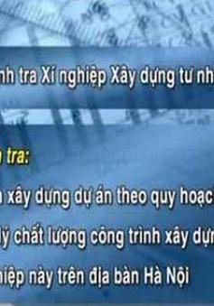 Thanh tra Xí nghiệp Xây dựng tư nhân số 1 Lai Châu