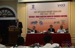Việt Nam và Ấn Độ xúc tiến hợp tác trong lĩnh vực đóng tàu