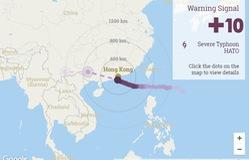 Hong Kong nâng cảnh báo cao nhất trong 5 năm để đón bão Hato