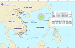 Vùng áp thấp trên Bắc Biển Đông mạnh lên thành áp thấp nhiệt đới