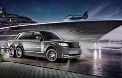 Tròn mắt với Range Rover độ siêu bán tải 6 bánh cho giới siêu giàu