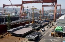 Hàn Quốc đứng sau Trung Quốc về đơn hàng đóng tàu tháng thứ 2 liên tiếp