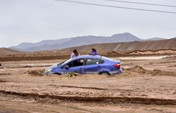 Ngập lụt tại sa mạc khô hạn nhất thế giới