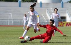 ĐT nữ Myanmar 0-4 ĐT nữ Việt Nam: ĐT nữ Việt Nam vào bán kết với ngôi nhất bảng