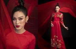 Hoa hậu Đỗ Thị Hà khoe vẻ sắc sảo với áo dài retro