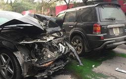 Xe điên đâm liên hoàn trên phố Ngọc Khánh, 1 người thiệt mạng