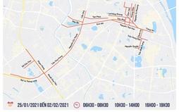 [INFOGRAPHIC] Từ 22/1, Hà Nội cấm đường và hướng đi mới trong thời gian Đại hội XIII