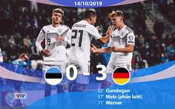 ĐT Estonia 0-3 ĐT Đức: Chiến thắng với chỉ 10 người (Bảng C, Vòng loại EURO 2020)