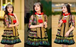 Sao mai Mai Diệu Ly hoá cô gái H'Mông xinh đẹp với trang phục nặng gần 10kg