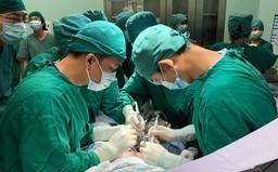 20 y bác sĩ hợp sức giành giật sự sống cho bé gái bị xe container tông