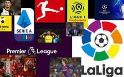 CẬP NHẬT Lịch thi đấu, Kết quả, BXH các giải bóng đá VĐQG châu Âu: Ngoại hạng Anh, Bundesliga, Serie A, La Liga, Ligue I