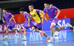 ĐT futsal Việt Nam hướng tới kết quả khả quan trước ĐT futsal Nga tại vòng 1/8