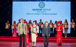 """Hathor Group nhận giải """"Top 10 thương hiệu tin cậy, sản phẩm chất lượng, dịch vụ tận tâm"""""""