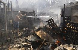 Đạn pháo vẫn nổ ở miền Đông Ukraine
