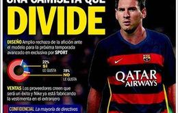 Người hâm mộ Barca phản đối kịch liệt mẫu áo đấu mới