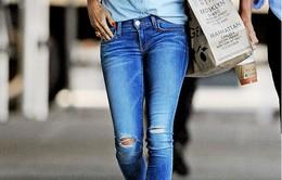 Mặc đẹp với quần Jeans rách