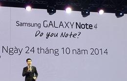 Galaxy Note 4 lên kệ vào ngày 24/10 với giá 17.99 triệu đồng
