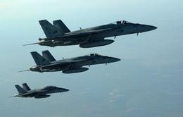 Mỹ không kích 12 mục tiêu của IS ở Syria