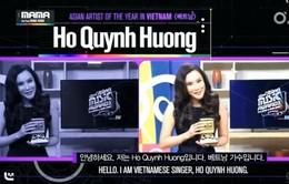"""Hồ Quỳnh Hương giật giải """"Nghệ sĩ xuất sắc nhất châu Á"""" tại MAMA 2014"""