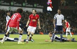 West Brom 2-2 Man Utd: Quỷ đỏ bật khỏi top 4