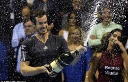 Cứu 5 match-point, 2 lần đập vợt, Murray vô địch Valencia Open