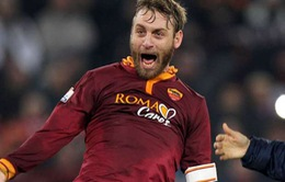 De Rossi 3 năm liền kiếm tiền giỏi nhất Serie A
