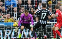 "Newcastle 1-0 Liverpool: The Kop lại ngã ""sấp mặt"""