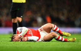 """HLV Wenger """"méo mặt"""" vì chấn thương của Wilshere"""