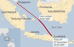 Máy bay AirAsia mất tích: Xác định tọa độ rơi xuống vùng biển Indonesia