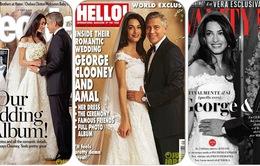 George Clooney bán ảnh cưới, quyên tiền từ thiện