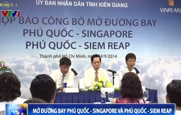 Vietnam Airlines khai trương 2 đường bay quốc tế đến Phú Quốc