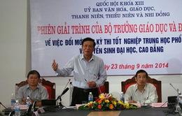 """Bộ trưởng Bộ GD-ĐT giải trình vấn đề """"nóng"""" về kỳ thi QG chung"""