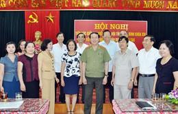 Đại tướng Trần Đại Quang tiếp xúc cử tri trước kỳ họp Quốc hội