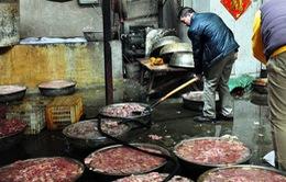 Trung Quốc bắt giữ 34 đối tượng buôn bán và chế biến thịt lợn nhiễm bẩn