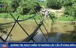 Nguy hiểm từ những cây cầu ở vùng rốn lũ