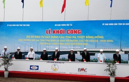 Thái Bình khởi công dự án đầu tư xây dựng cầu Thái Hà vượt sông Hồng