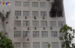 Cháy tại trường Bồi dưỡng cán bộ Giáo dục Hà Nội
