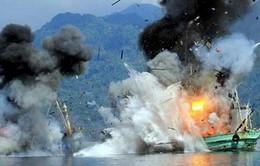 Indonesia tiếp tục đánh chìm tàu đánh cá trái phép nước ngoài